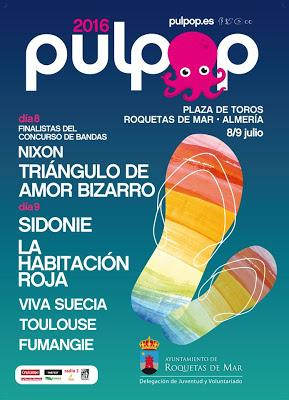 Pulpop Festival 2016: Sidonie, La Habitación Roja, Viva Suecia, TAB....