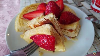 Pancakes con fresas