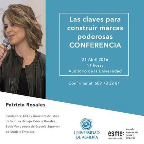 Conferencia de Patricia Rosales en la Universidad de Almería