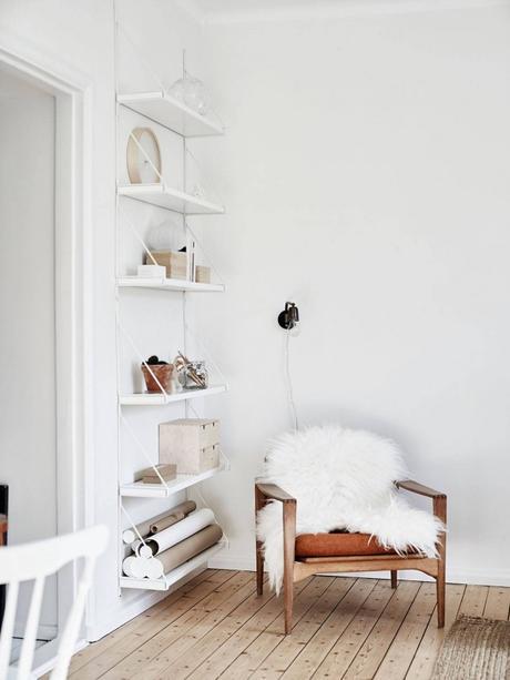 white shelfs