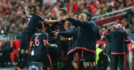 Bayern Múnich empató 2-2 ante Benfica