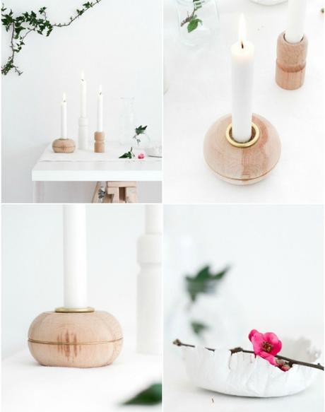DIY lowcost candelabros con patas de madera