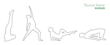 11 bloques para descargar .dwg. Silueta de personas realizando Pilates