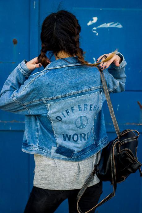 different world zara denim jacket