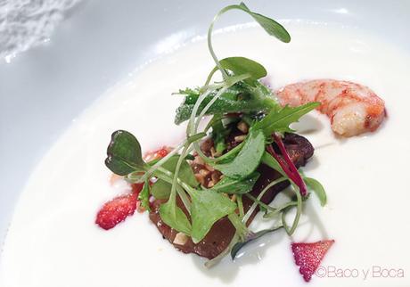 manjar blanco panceta iberica y fresas del maresme Osmosis Baco y boca