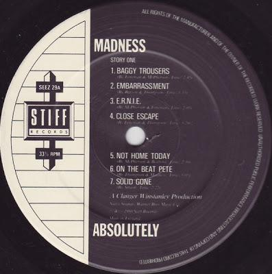 Madness -Absolutely Lp 1980