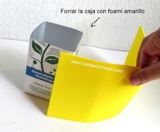 Convierte una caja reciclada en dulcero para día del niño