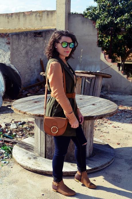 Como llevar un chaleco caqui_Outfits_mivestidoazul (4)