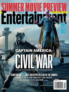Entertainment Weekly no entra tantos héroes de Marvel en una sola portada.