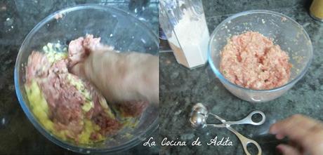 Albóndigas de ternera con jamón ibérico