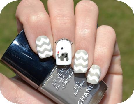 Nail Art Elefantes - Chanel