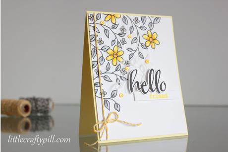 Gray and yellow any occasion card