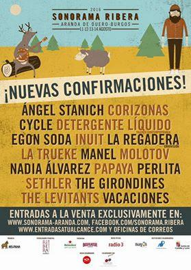 Sonorama Ribera 2016: Molotov, Manel, Ángel Stanich, Corizonas, Cycle, Egon Soda, La Trueke...
