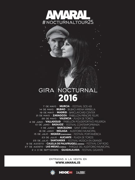 Queda un mes para NOCTURNAL TOUR, la Gira de AMARAL