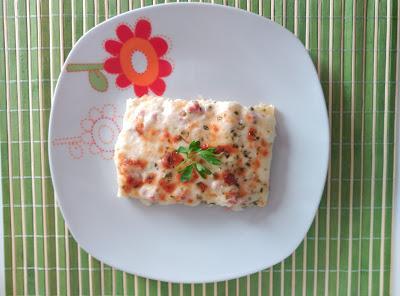 Canelones con queso