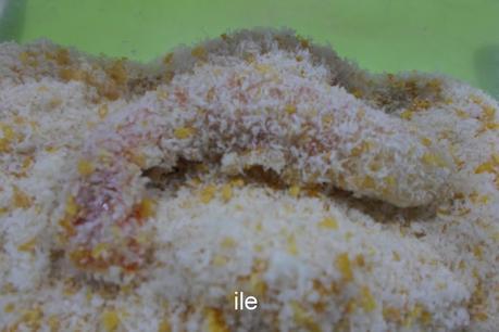 Gambas o langostinos rebozados en coco