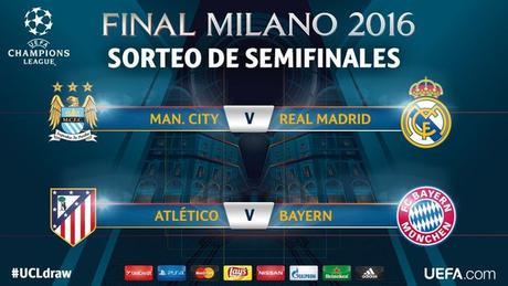 Calendario de Semifinales Champions League 2016