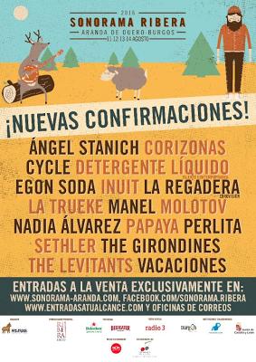Últimas Confirmaciones Sonorama Ribera 2016