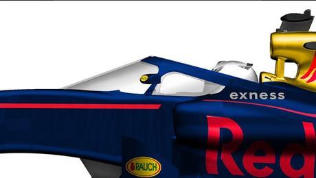 Red Bull se prepara para montar su protección para el cockpit en Rusia