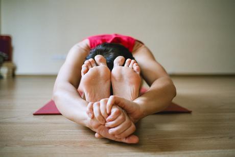 Yoga, Piernas, Chica, Deportes