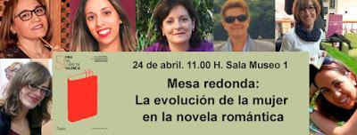 Mesa redonda novela romántica en FERIA LIBRO VALENCIA 2016