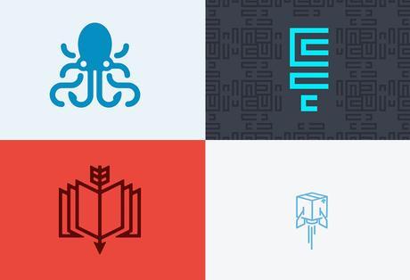 Logotipos arte lineal 4