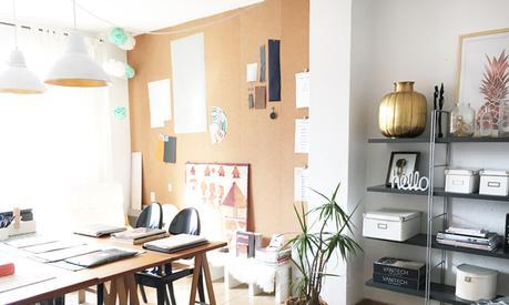 Una pared de corcho para nuestro estudio paperblog - Planchas de corcho para revestir paredes ...