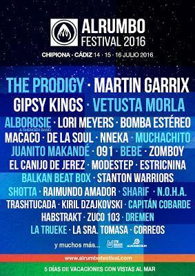 AlRumbo Festival 2016: De La Soul, Lori Meyers, Macaco, 091, Raimundo Amador, Gipsy Kings...