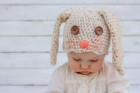 fe63090268fa1 Cómo hacer un gorro para bebé en crochet con forma de conejo - Paperblog