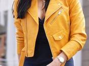 moda biker amarilla Zara