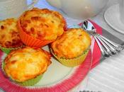 Muffins puerro queso cheddar