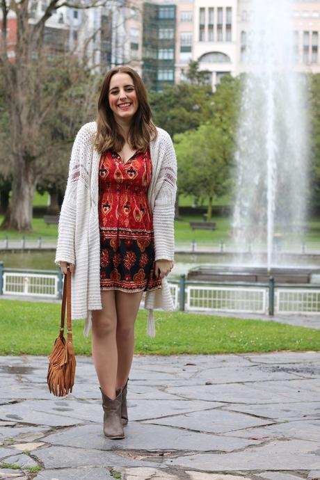 Outfit Boho Con Vestido Rojo Paperblog