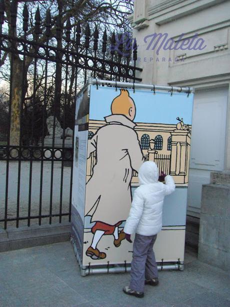 Jugando con Tintín en Bruselas