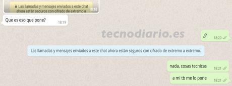 """WhatsApp: Qué significa """"Las llamadas y mensajes enviados a este chat ahora están seguros con cifrado de extremo a extremo"""""""