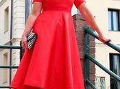 looks vestido rojo midi teria yabar santander