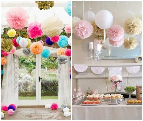 Decoracion con pompones y detalles vintage bodas - Detalles vintage decoracion ...