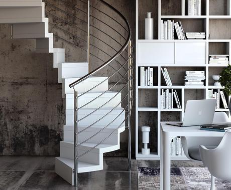 Escaleras interiores confort y personalidad para la for Tipos de escaleras interiores