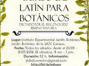 Curso Latín para Botánicos, IEJB-UCV