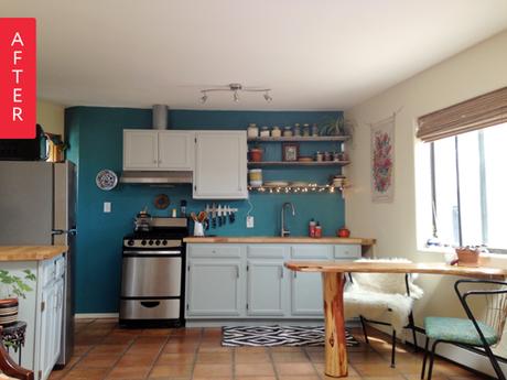 Antes despu s 8 cambios de look en cocinas sin obras - Cambiar encimera cocina sin obras ...