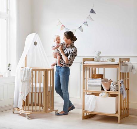 Cunas para beb s la famosa cuna ovalada stokke paperblog - Cambiador bebe para cuna ...