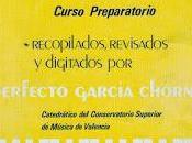 Perfecto García Chornet Ejercicios, Estudios obras para Piano Curso Preparatorio LOGSE)