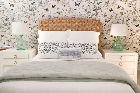 Dormitorio juvenil con un papel pintado muy especial - Papel pintado para dormitorio juvenil ...