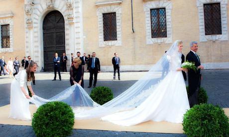 Como llevar la cola del vestido de novia