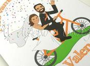 Invitaciones boda bicicleta