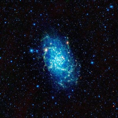 Retrato infrarrojo de la galaxia del triángulo