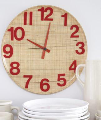 Hacer un reloj de cocina con una bandeja paperblog for Reloj de cocina original