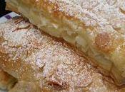 Cañas hojaldre rellenas crema pastelera