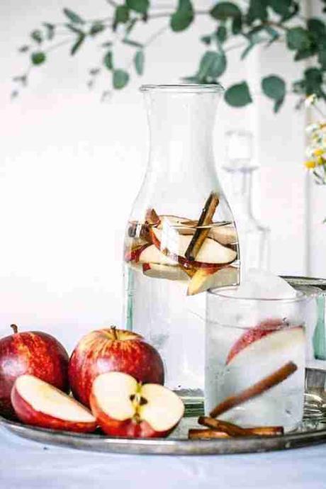 agua de manzana y canela para perder peso