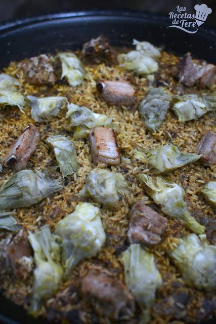 Arroz con costilla de cerdo y alcachofas paperblog - Arroz caldoso con costillas y alcachofas ...