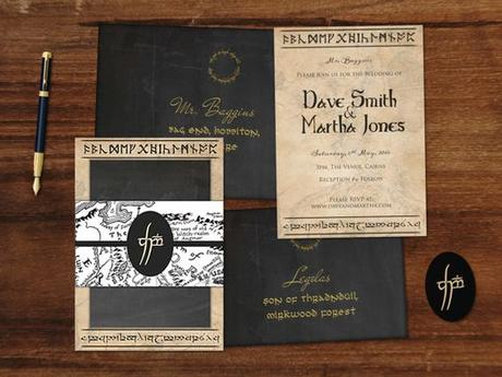 Middle Earth (Lord of the Rings) Wedding Invitation Suite by Chameleon Weddings on Etsy! Printable PDF for you to DIY: